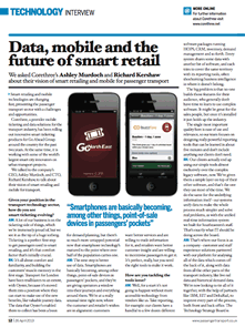 Corethree's CEO and CTO interviewed in Passenger Transport magazine