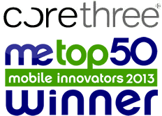 Further industry recognition for leading mobile innovators Corethree