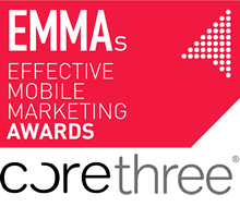 Corethree double finalists in the 2013 Effective Mobile Marketing Awards