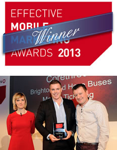 Corethree win best mobile ticketing solution award at the 2013 EMMAs