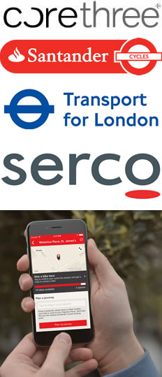 Corethree develops revolutionary new Santander Cycles app with Transport for London